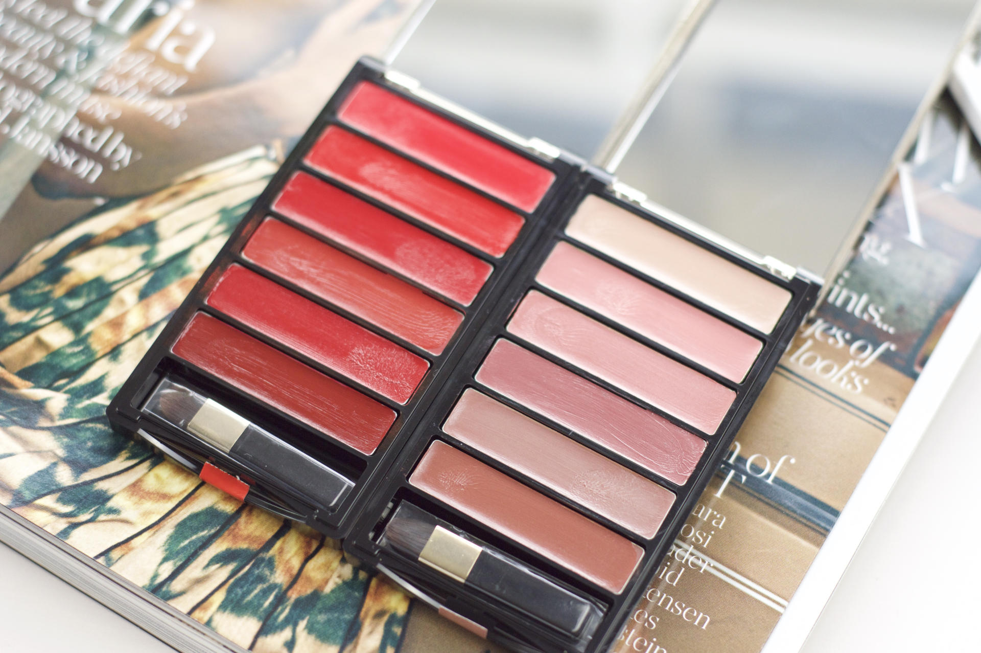 Made From Beauty L'Oréal Color Riche Lip Palette Nude and Red