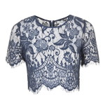 Topshop **Lace Crop Top by Glamorous Petites
