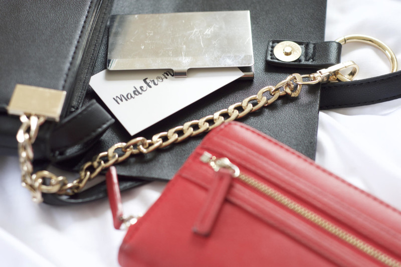 Made From Beauty What's in My Bag: The Everyday Edition Purse and Business Cards