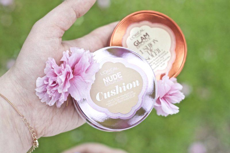 The L'Oréal Nude Magique Cushion Foundation & Glam Bronze Cushion De Soleil
