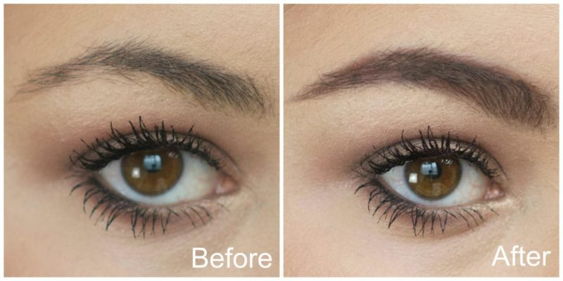 Rimmel Brow Before and After
