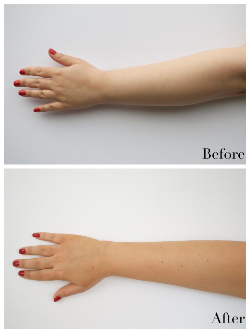 Bellamianta Self Tanning Tinted Lotion before and after