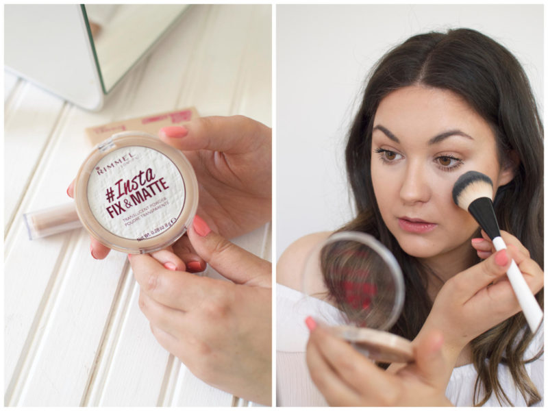how to fix cakey makeup on the go